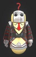 3D robot quiz model