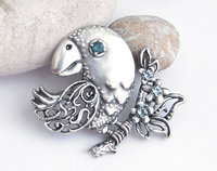 cute bird brooch jewelry 3D model