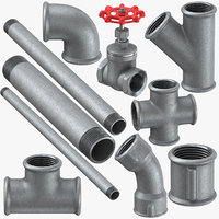 3D galvanized steel pipes