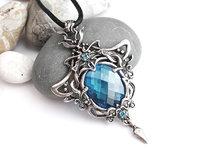 Stone pendant necklace, printable jewelry model