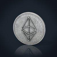 3D ethereum coin model