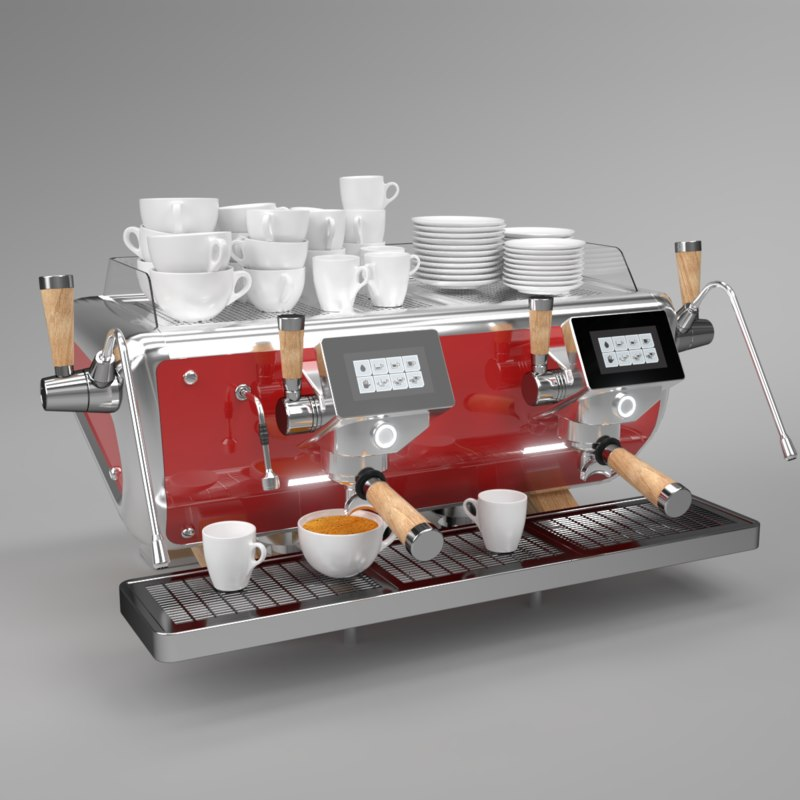 3D blender 2 astoria coffee machine model