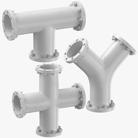 3D industrial pipes t y model