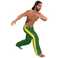 3D rigged capoeira