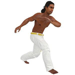 3D model rigged capoeira