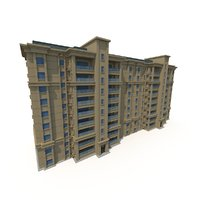 residential building 01 asian 3D model