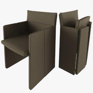 3D auditorium chair