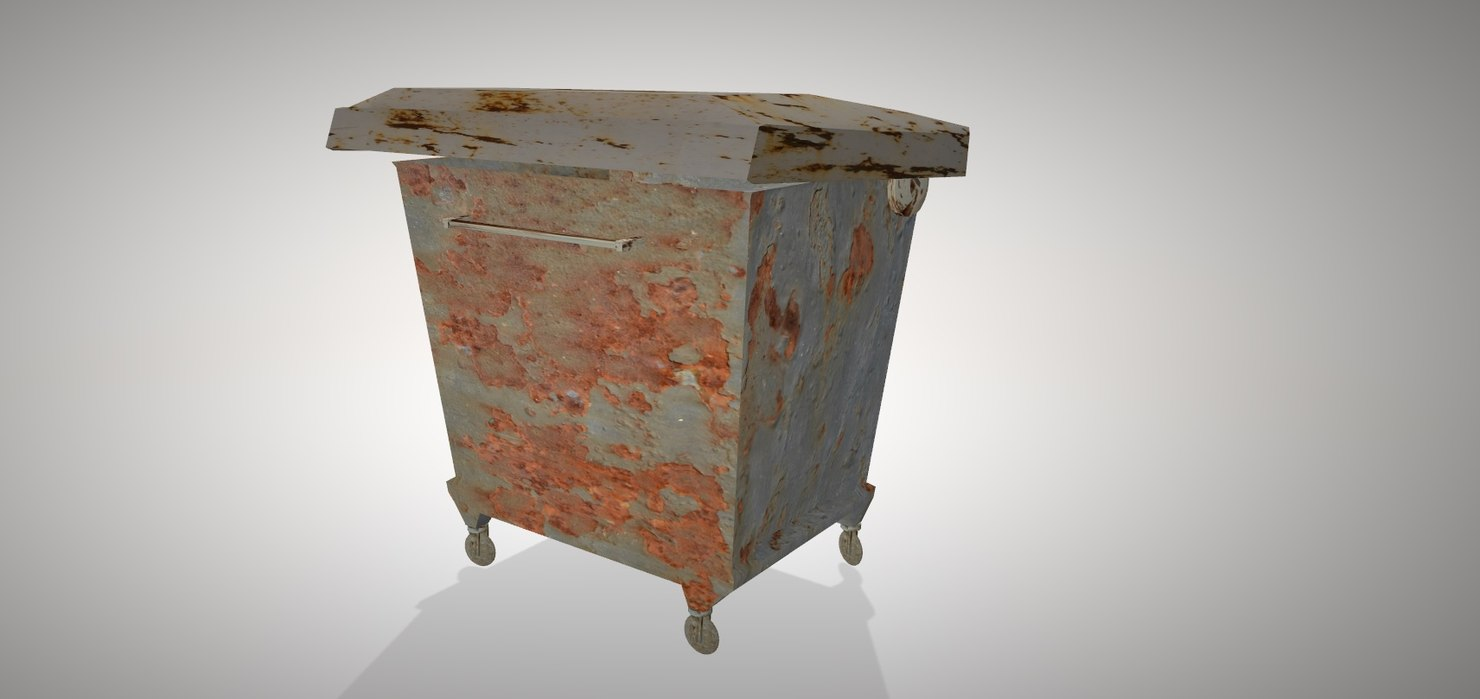 contaminated dumpster 3D model