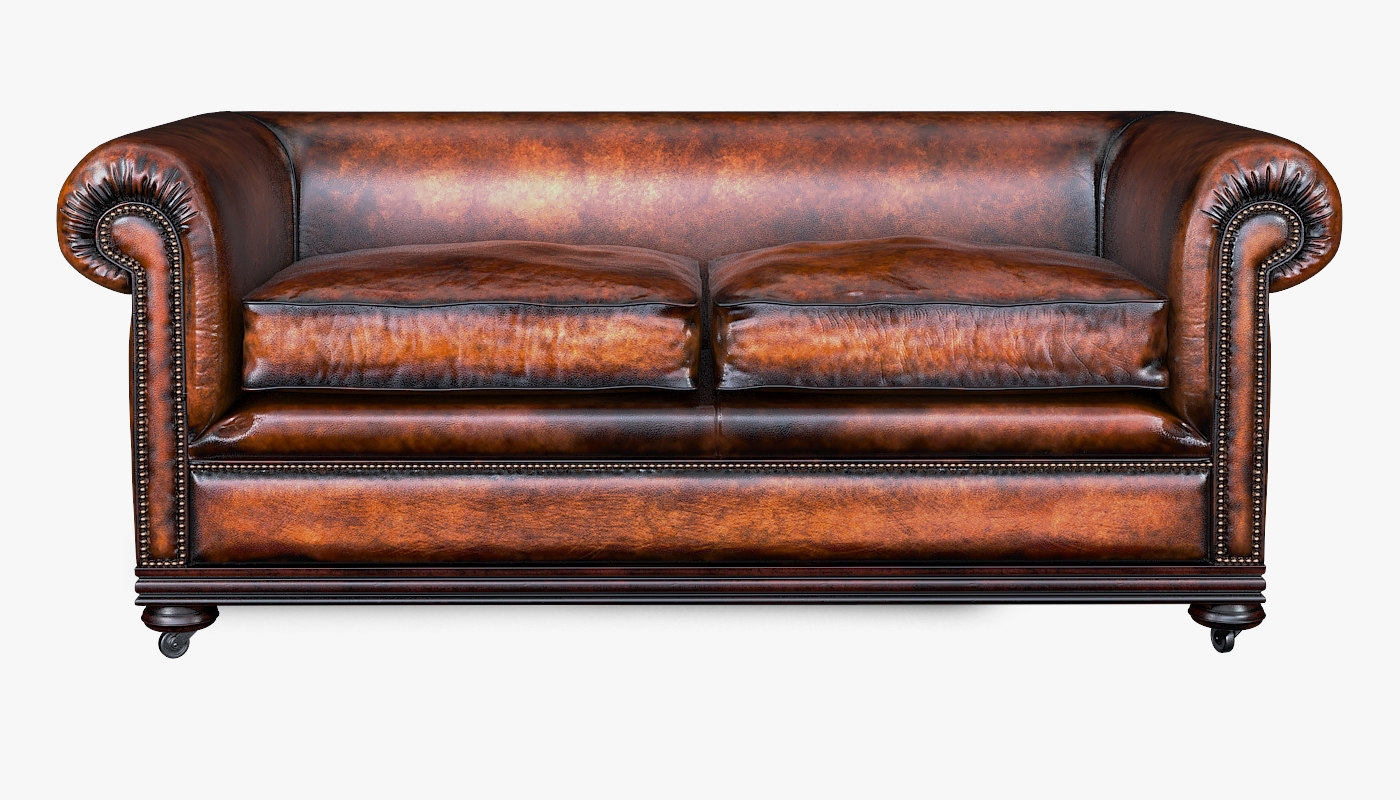 3D classic chesterfield sofa charles model