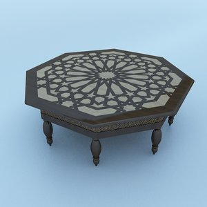 traditional table 3D