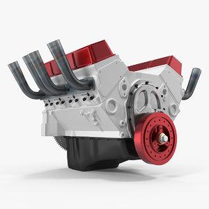 3D v8 car engine