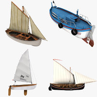 fishing boats 3D model