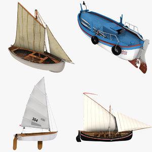 fishing boats 3D model