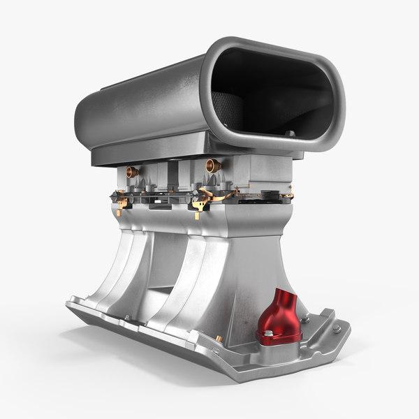 3D supercharger blower model