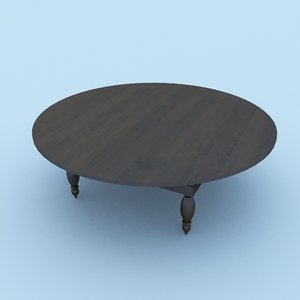 3D model traditional table