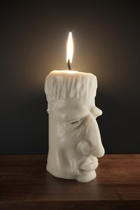 3D old candle light