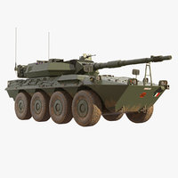 3D wheeled tank destroyer b1 model