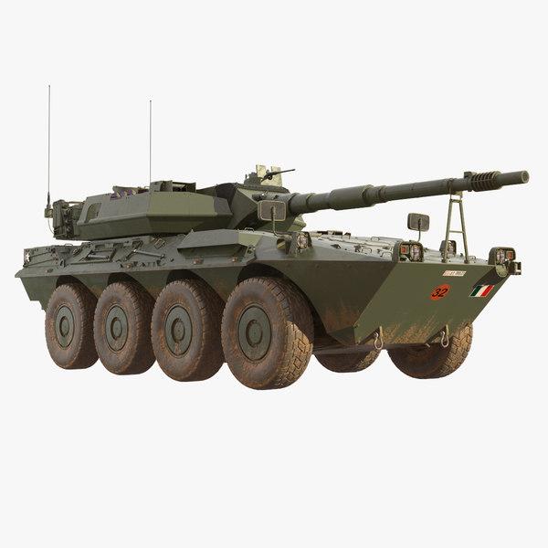3D wheeled tank destroyer b1 model