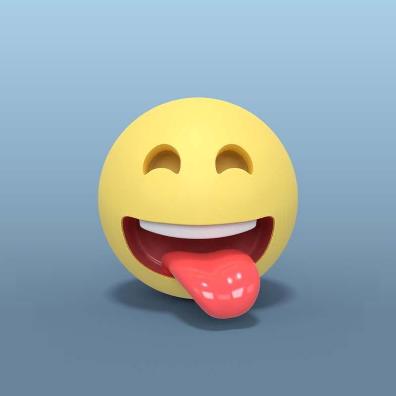 laughing smiley 3D