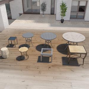 outdoor tables 3D model