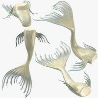 mermaid tails 02 3D