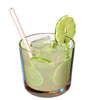 capirinha brazilian drink 3D model