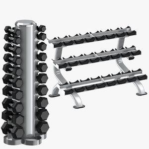 3D dumbell racks