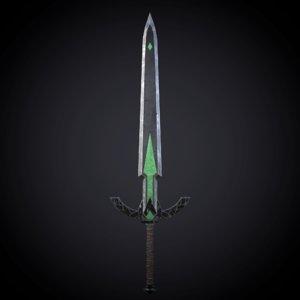medival fantasy sword model