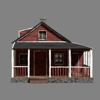woodhouse wood house 3D model
