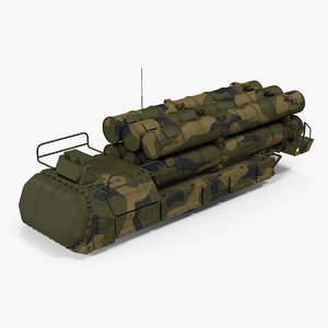 rockets radar camo air 3D model