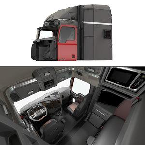 3D mack truck cabin