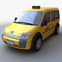 3D taxi generic model