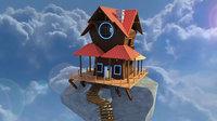 3D model cloud house