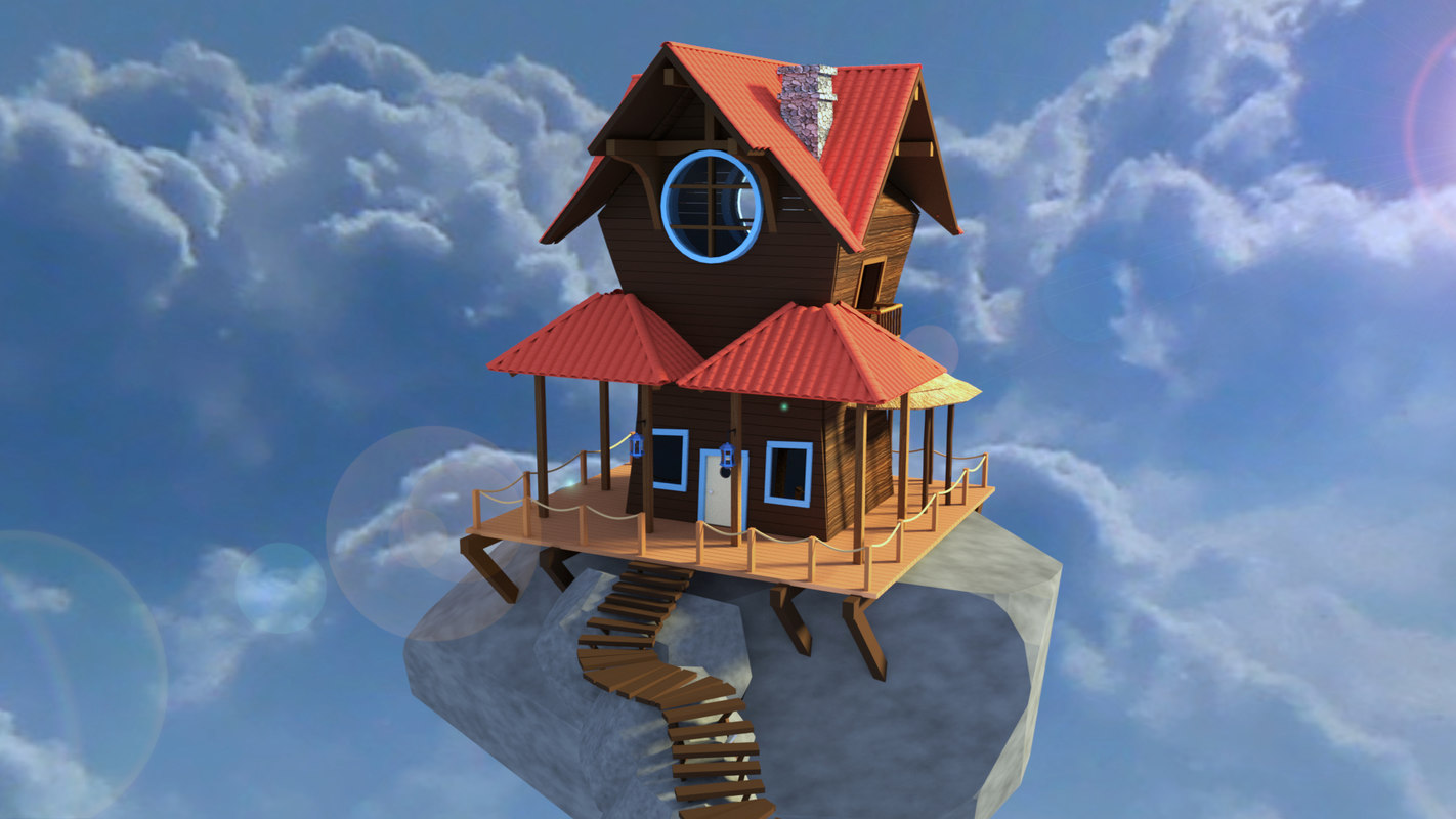 3D model cloud house