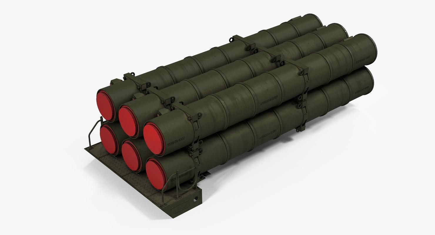 air defence rockets 3D model