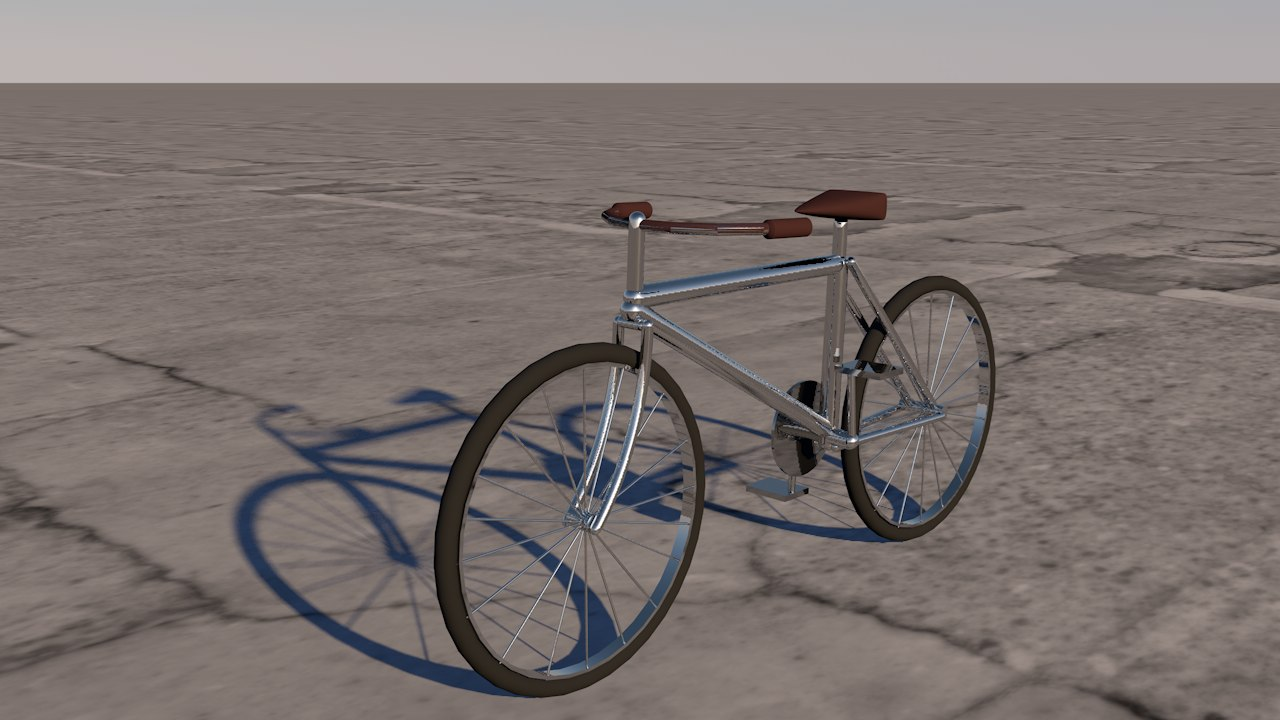 simple bicycle 3D model