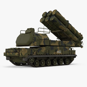 buk m3 surface air missile 3D model