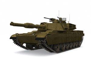 abram tank 3D model