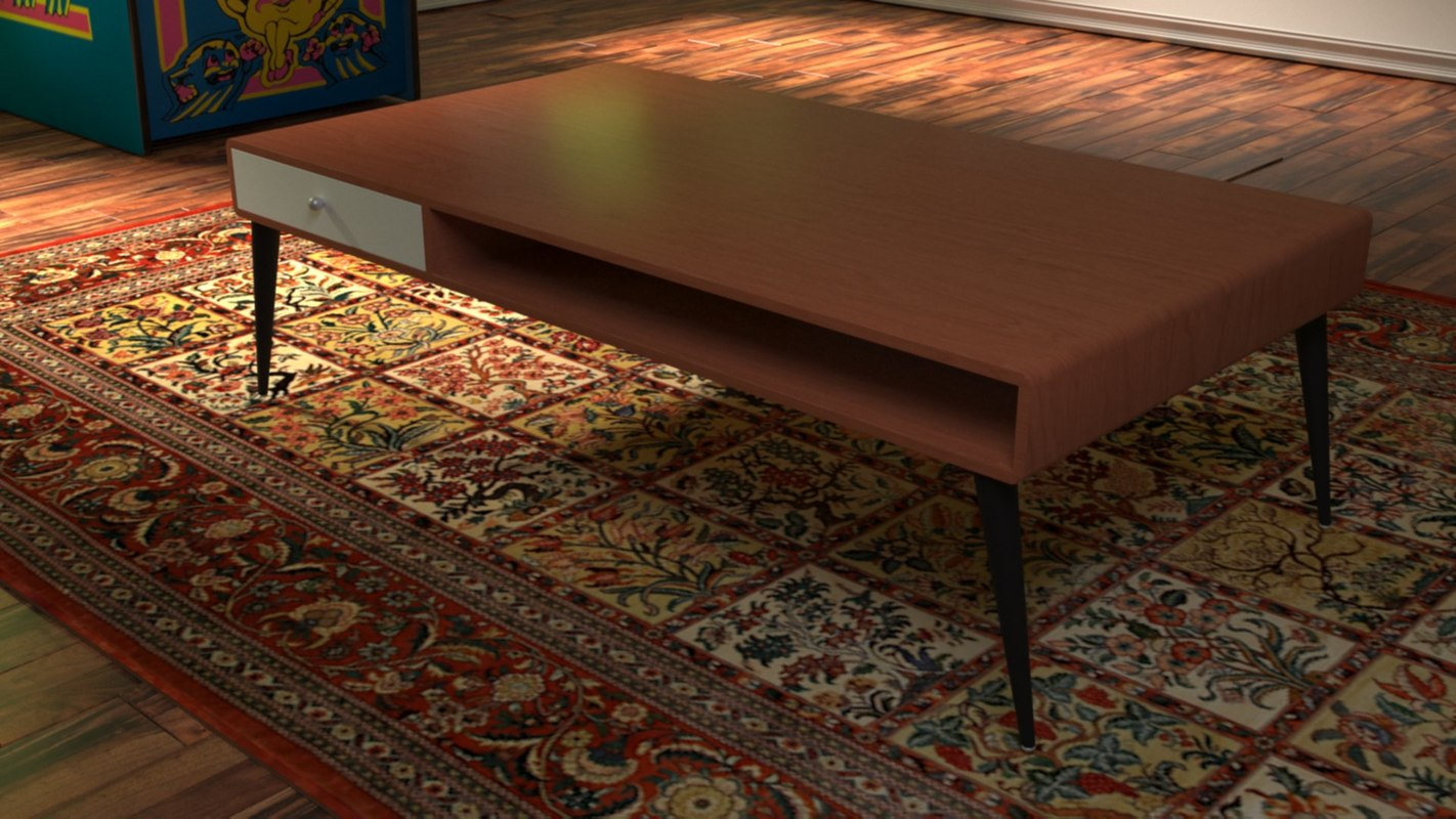 3D s vintage coffee table model