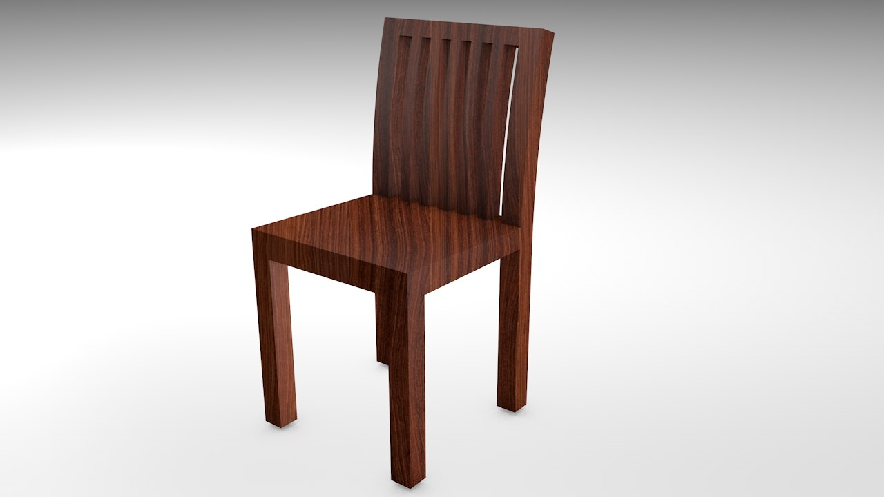 realistic wooden chair model