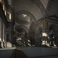 3D model classical interior