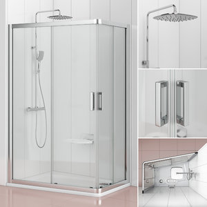 3D asymmetrical shower enclosure ravak