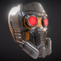 3D guardians star-lord helmet