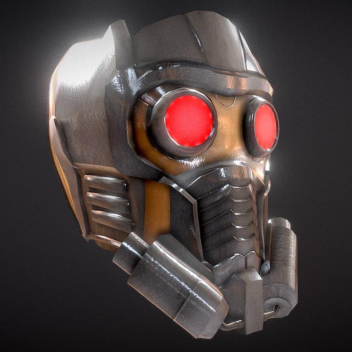 3D guardians star-lord helmet