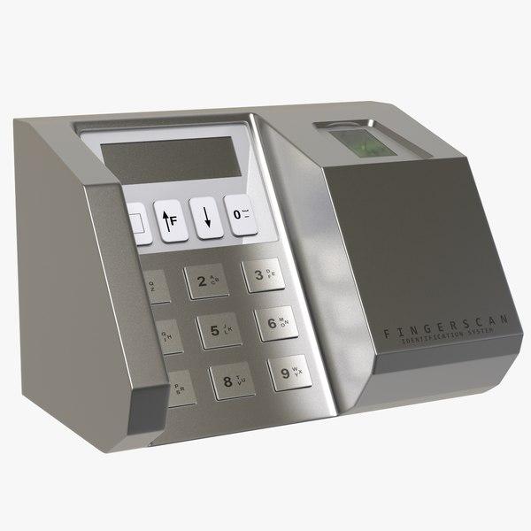 biometric finger reader 3D model
