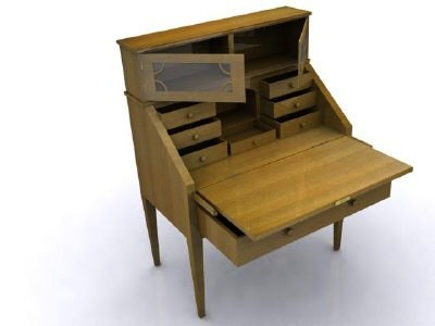 3D antique desk model