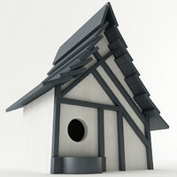 birdhouse wood 3D model