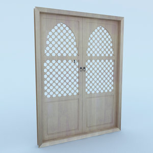 traditional moroccan door 3D model