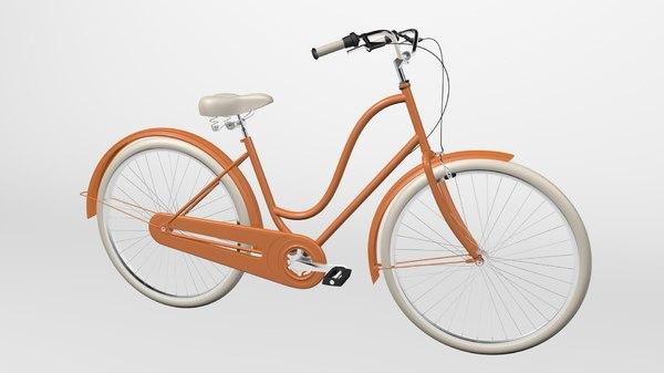 3D electra bike amsterdam model