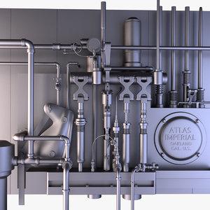 industrial installation 3D model